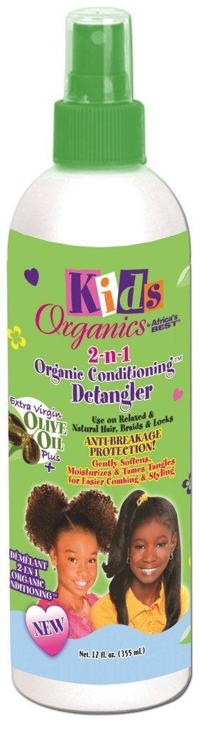 Africa's Best Kids Organics 2-in-1 Organic Conditioning Detangler Spray 12oz