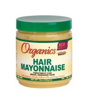 Africa's Best Organics Olive Oil Hair Mayonnaise Weak Hair Treatment 15oz