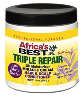 Africa's Best Triple Repair Oil Moisturizer Miracle Cream Conditioner 6oz