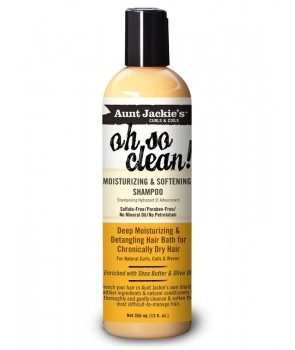 Aunt Jackie's Curls & Coils Oh So Clean! Moisturizing & Softening Shampoo 12 oz