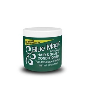 Blue Magic Bergamot Hair & Scalp Conditioner – 12oz green jar