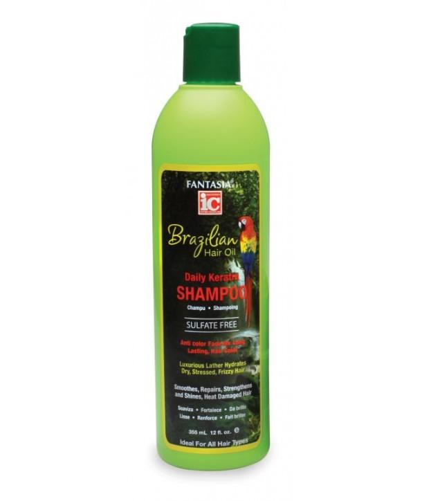 Fantasia IC Brazilian Hair Oil Daily Keratin Shampoo 12oz