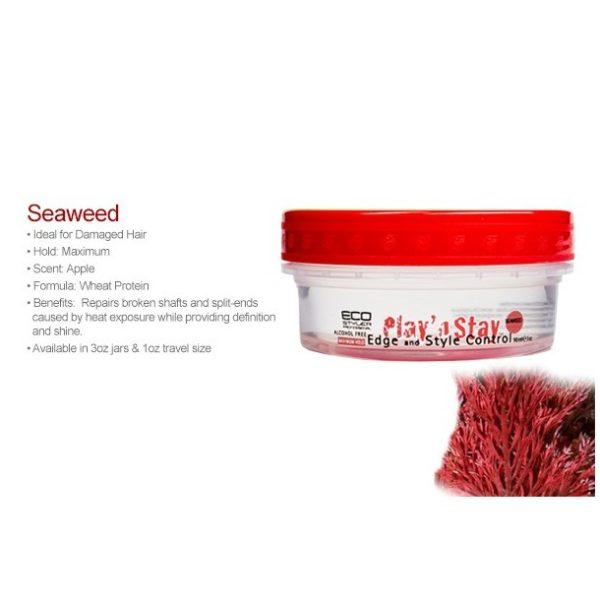 Eco Play N Stay Edge And Style Control Gel Seaweed 3 Oz