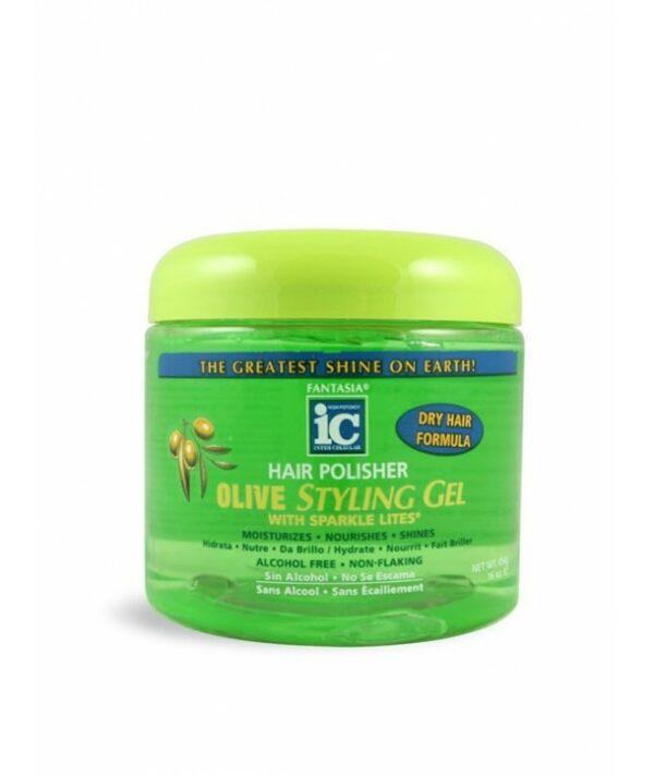 Fantasia Hair Polisher Olive Styling Gel 16oz
