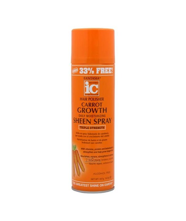 Fantasia Hair Sheen Spray Carrot Growth 14 oz