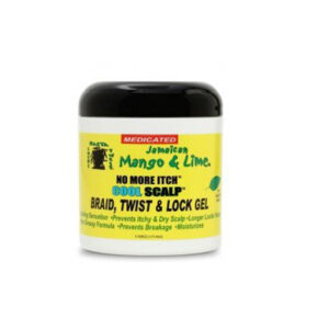 Jamaican Mango & Lime No More Itch Cool Scalp Braid, Twist & Lock Gel 177 ml