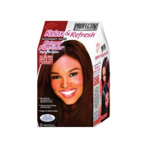 PROFECTIV RELAX & REFRESH NO-LYE RELAXER PLUS COLOR RESTORATIVE SYSTEM – AUBURN SPICE – 2 TOUCH-UPS OR 1 APPLICATION