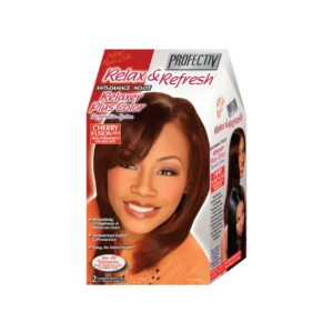 PROFECTIV RELAX & REFRESH NO-LYE RELAXER PLUS COLOR RESTORATIVE SYSTEM – CHERRY FUSION – 2 TOUCH-UPS OR 1 APPLICATION