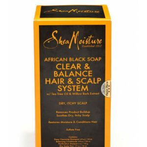 Shea Moisture African Black Soap Clear & Balance Hair & Scalp System 16oz