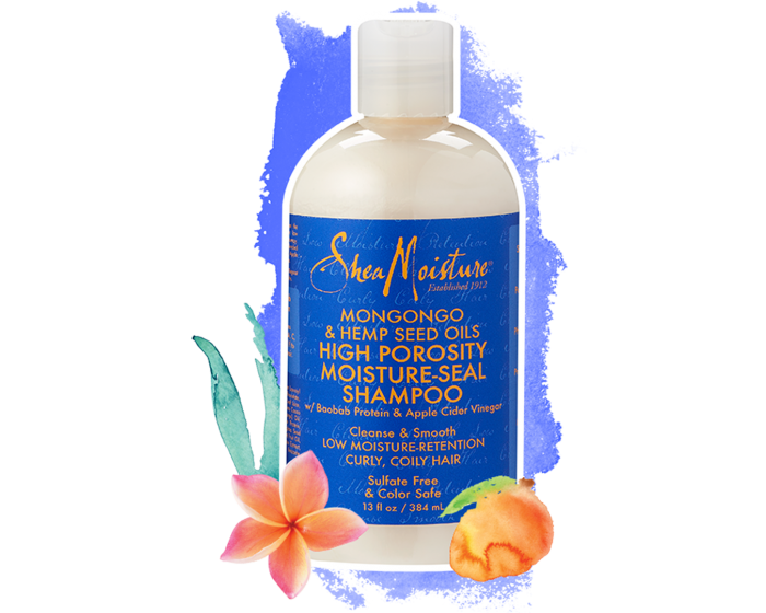 Shea Moisture Mongongo & Hemp Seed Oils High Porosity Moisture-Seal Shampoo 13 oz / 384 ml