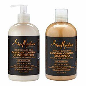 SheaMoisture African Black Soap Hair Care Pack | Dandruff Control Shampoo | Dandruff Control Conditioner | 13 fl. oz. Each