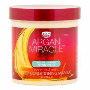 AFRICAN PRIDE ARGAN MIRACLE MOISTURE & SHINE DEEP CONDITIONING MASQUE 15 oz