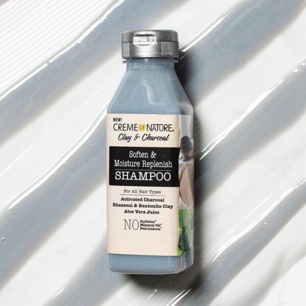 Creme of Nature Clay and Charcoal SOFTEN & MOISTURE REPLENISH SHAMPOO