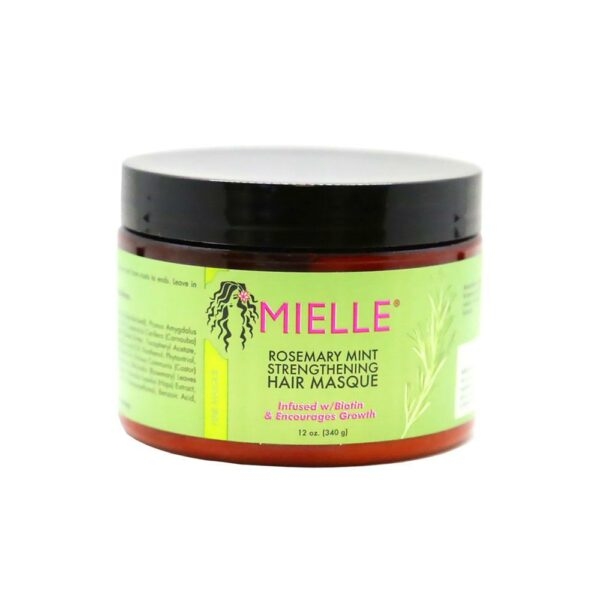 MIELLE ORGANICS ROSEMARY MINT STRENGTHENING HAIR MASQUE 340ML