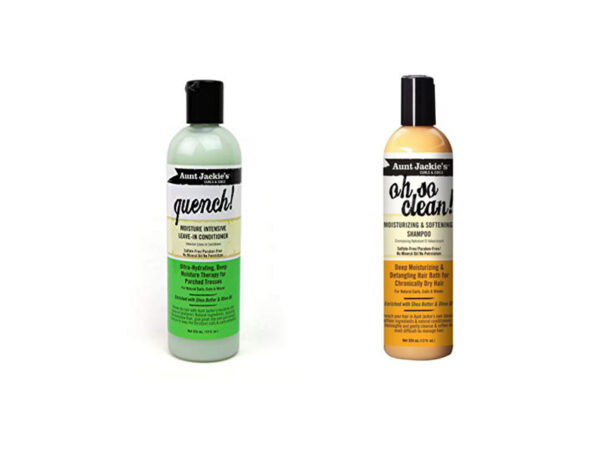 Aunt Jackie's Oh so Clean! Shampoo & Quench Leave-in Conditioner 12 Oz Each ( set )