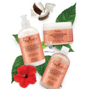 Shea Moisture Coconut & Hibiscus Curl & Shine Care Set  (3pcs)