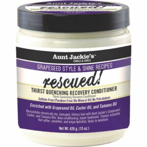 Aunt Jackie's Grapeseed Style & Shine Recipes RESCUED! Thirst Quenching Recovery Conditioner 426 Gr / 15 Oz