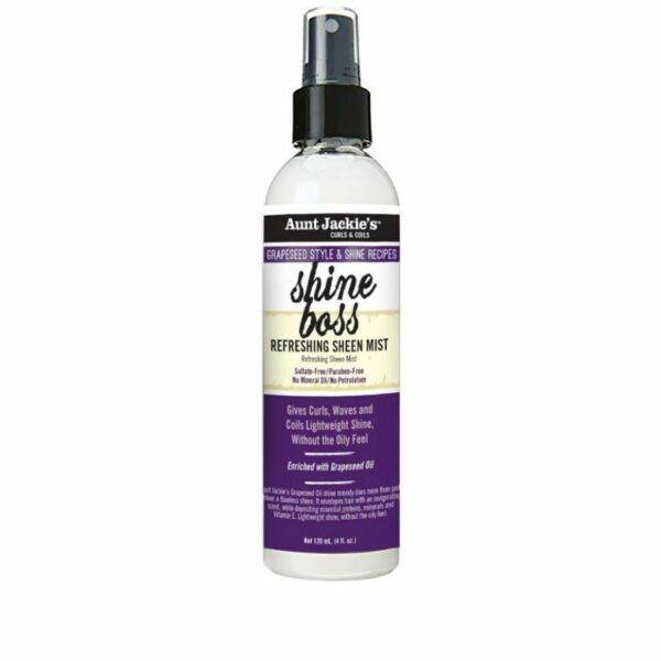 Aunt Jackie's Grapeseed Style & Shine Recipes SHINE BOSS Refreshing Sheen Mist